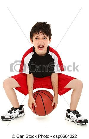 Stock Photo Of Goofy Funny Boy Child Basketball Player  Team Sport Csp6664022  Search Stock