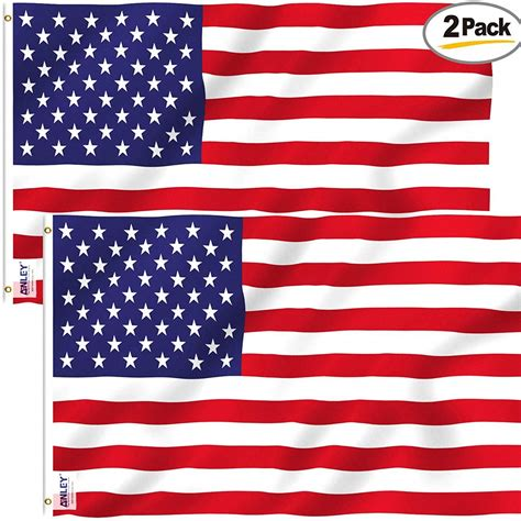 Anley Pack of 2 Fly Breeze 3x5 Foot American US Polyester ...
