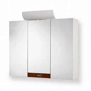 Spiegelschrank 3 Türig Mit Beleuchtung : spiegelschrank mit beleuchtung uhr 3 t rig wei bad h ngeschrank schrank neu ebay ~ Bigdaddyawards.com Haus und Dekorationen