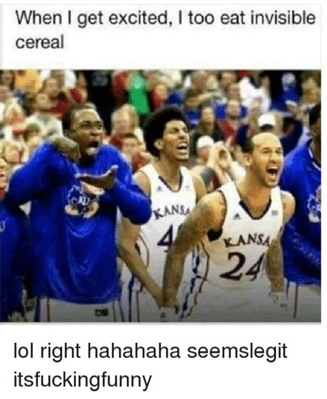 Invisible Cereal Meme - when i get excited too eat invisible cereal ransa kans lol right hahahaha seemslegit