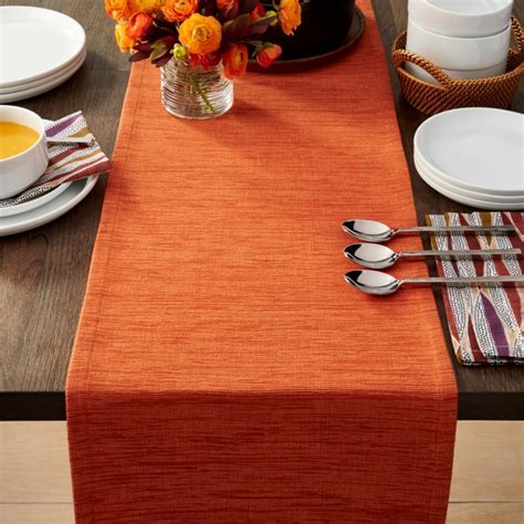 "Grasscloth 90"" Orange Table Runner   Reviews   Crate and"