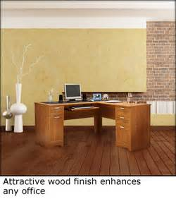 realspace 174 magellan collection l shaped desk honey maple free shipping ebay