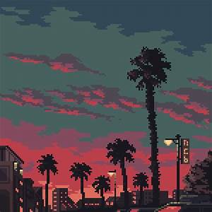 Palm trees by Kldpxl on Newgrounds