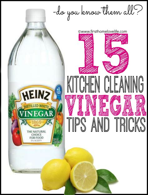 water and vinegar to clean 15 kitchen cleaning uses for vinegar first home love life