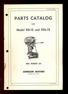 1953  54 Johnson 25 Hp Rd  Rdl