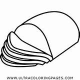 Coloring Ham Pages Thanksgiving sketch template