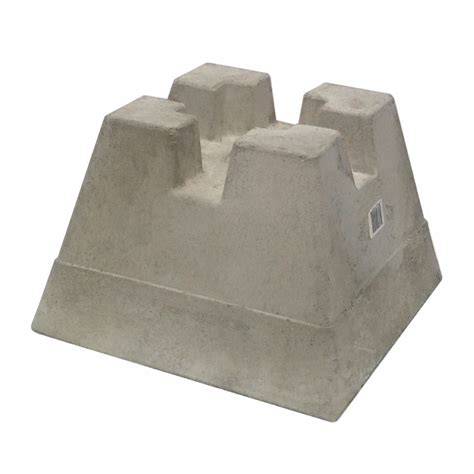 Precast Concrete Deck Footings Home Depot by Shop Handi Block 4 X 4 Handi Block At Lowes
