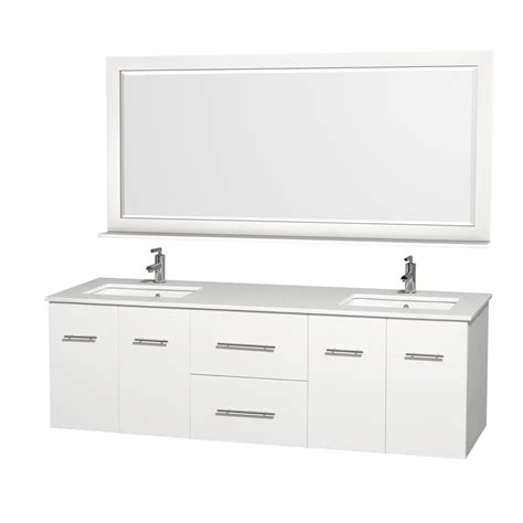 wyndham collection   double bathroom vanity  matte