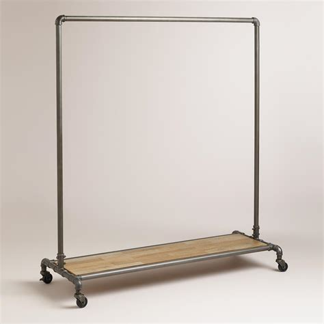 metal clothing racks clea pipe clothes rack world market