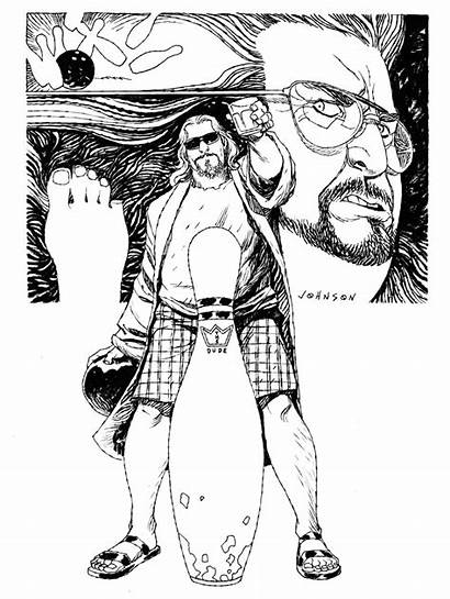 Lebowski Devilpig Deviantart Wants Johnson Sketch Dude