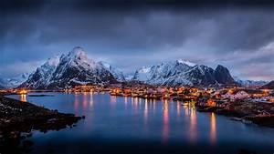 The, Magic, Islands, Of, Lofoten, Norway, Europe, Winter, Morning