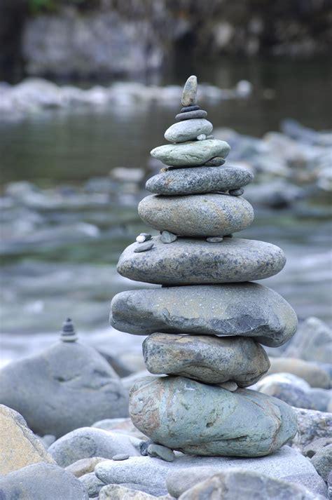 stacked rocks river rock stack lisa garden pinterest