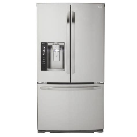 cabinet depth refrigerator lg electronics 19 8 cu ft french door refrigerator in