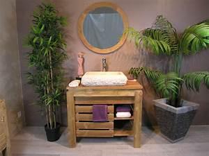 best salle de bain zen bois photos amazing house design With meuble de salle de bain bois brut
