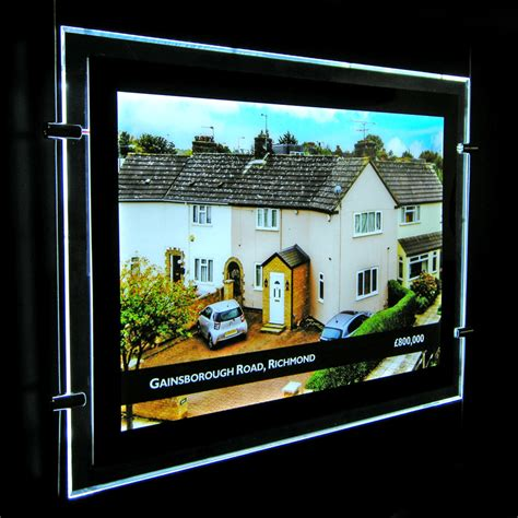 lighted window displays a3 landscape led window display single sided image display exhibition panels and