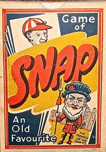 VINTAGE SNAP CARD GAME - ENGLAND C 1950