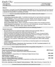entry level project management cv entry level brief help
