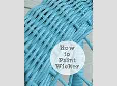 Painting Rattan & Bamboo Furniture The Wicker House