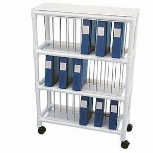 Hospital Chart Binders Pvc Binder Cart Holds 40 Binders