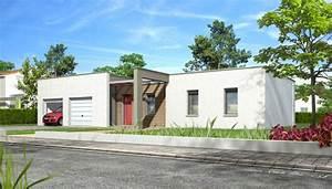 Maison Moderne Toit Plat : maison toit plat noyer plan maison gratuit ~ Nature-et-papiers.com Idées de Décoration