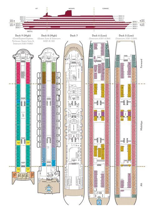 Cunard Cabin Layout qm2 deck plan pdf