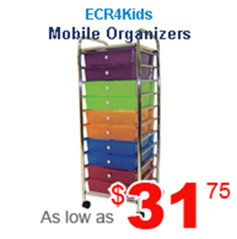 early childhood and preschool furniture 179 | mobile organizers