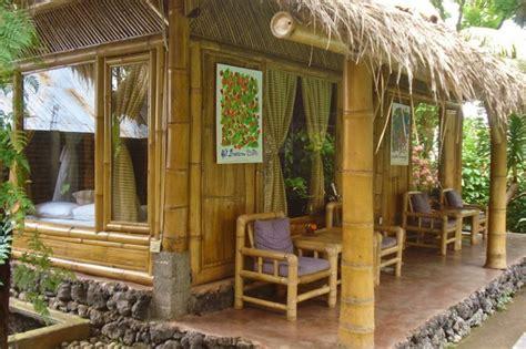desain rumah bambu sederhana semi modern rumahku unik
