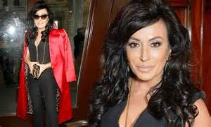 Nancy Dell'olio Looks Sexy In Low-cut Jumpsuit And Red