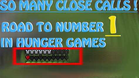 hunger number road to number 1 in minecraft hunger games 2 youtube