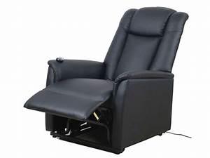 Fauteuil Electrique Conforama : fauteuil de relaxation et releveur lectrique max coloris noir en pu vente de tous les ~ Teatrodelosmanantiales.com Idées de Décoration