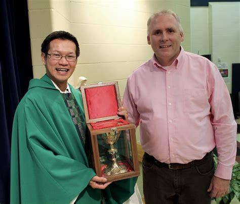 traveling chalice program begins st faustina catholic church