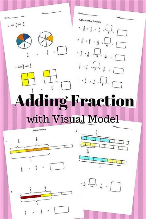 fractions worksheets  grade  grade adding