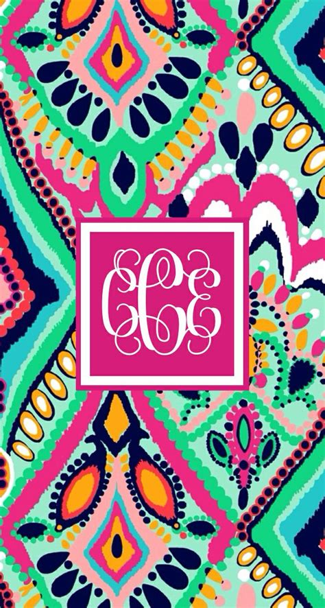 lilly pulitzer monogram wallpaper lily prints pinterest
