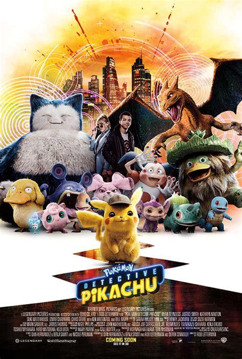 nerdly  poster trailer  pokemon detective pikachu