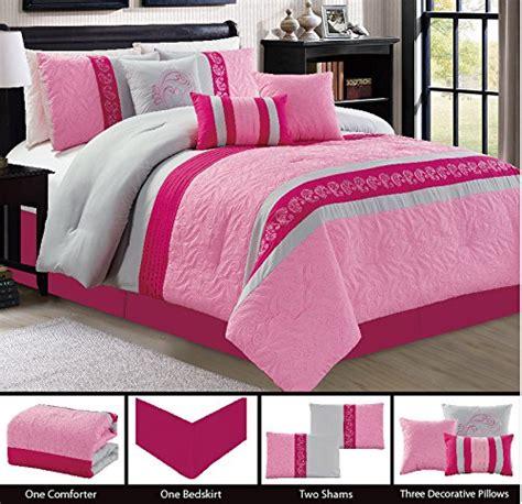 light pink and gray bedding modern 7 piece bedding pink light pink grey paisley