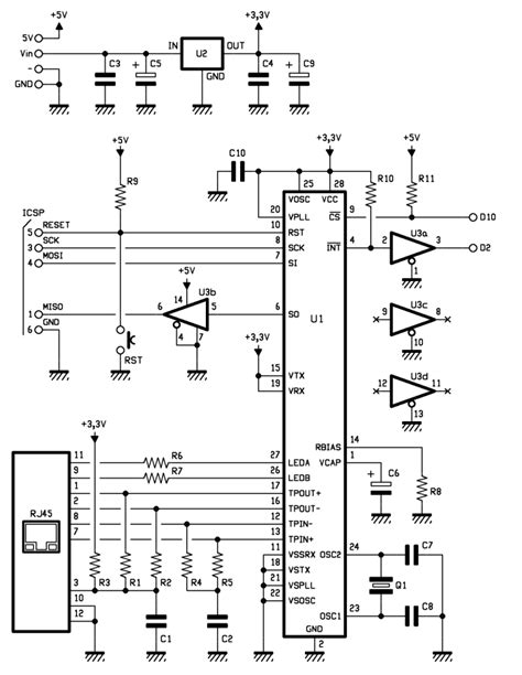 Low Cost Ethernet Shield With Encj Using Arduino Use
