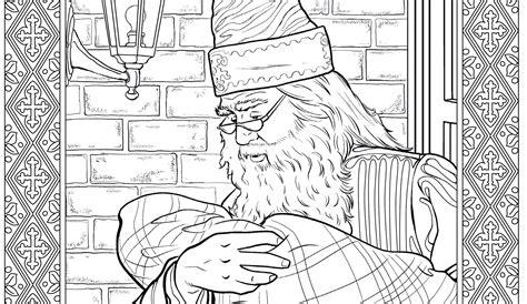 sneak peek    harry potter coloring book