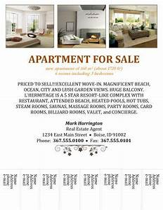 apartment for sale with tear off free flyer templates With apartment flyers free templates
