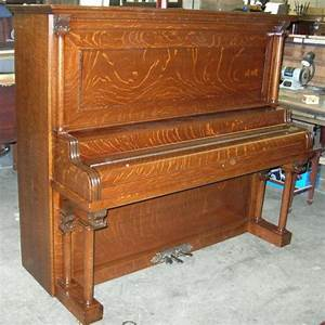 Story & Clark Oak Upright Piano – Antique Piano Shop