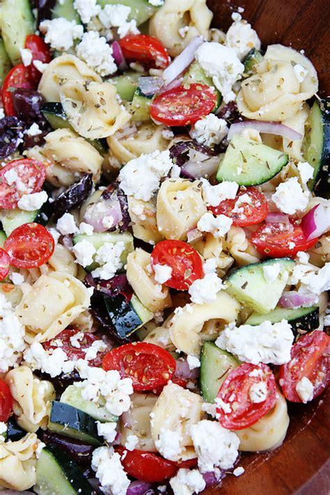 Greek Tortellini Salad Recipe | Two Peas & Their Pod