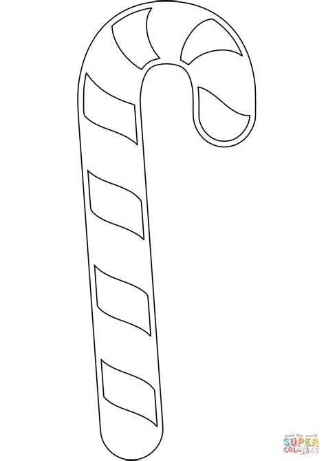 Candy Cane coloring page Free Printable Coloring Pages