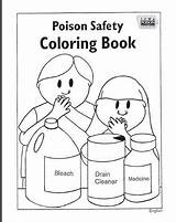 Children Coloring Pages Sheets Teaching Poison Control Activity Center sketch template