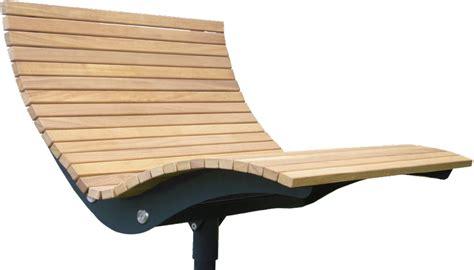 Aussenobjekte  Relaxliege Garten Parkliege Metall Holz