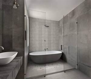 Carreaux De Ciment Salle De Bain : best salle de bain carrelage carreaux ciment gris blanc ~ Melissatoandfro.com Idées de Décoration
