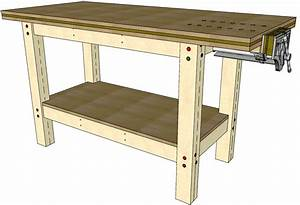 First Workbench #045 - 3D Woodworking Plans