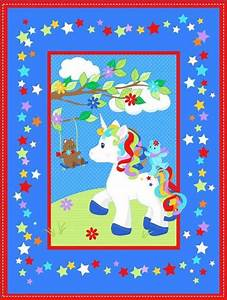unicorn quilt top panel 17 quilting fabric supplier