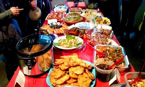 chinese new year potluck potlucks pot luck and dishes