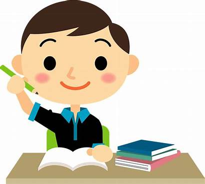 Boy Clipart Studying Study Transparent Creazilla