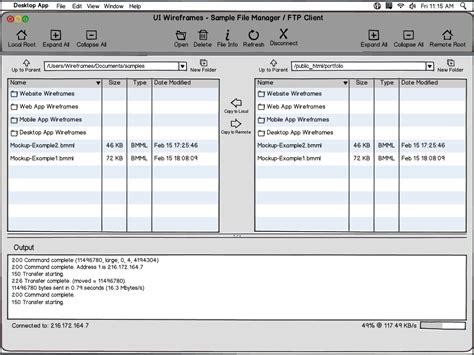 desktop software wireframe design services ui wireframes