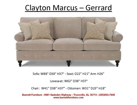 Size Of Loveseat by Barnett Furniture Average Size Sofa 84 Quot 89 Quot